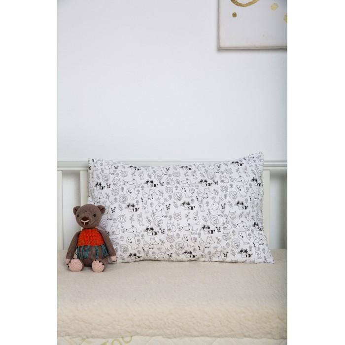 Картинка для Наволочки Вомбатик Наволочка Звери и звезды 40х60 см