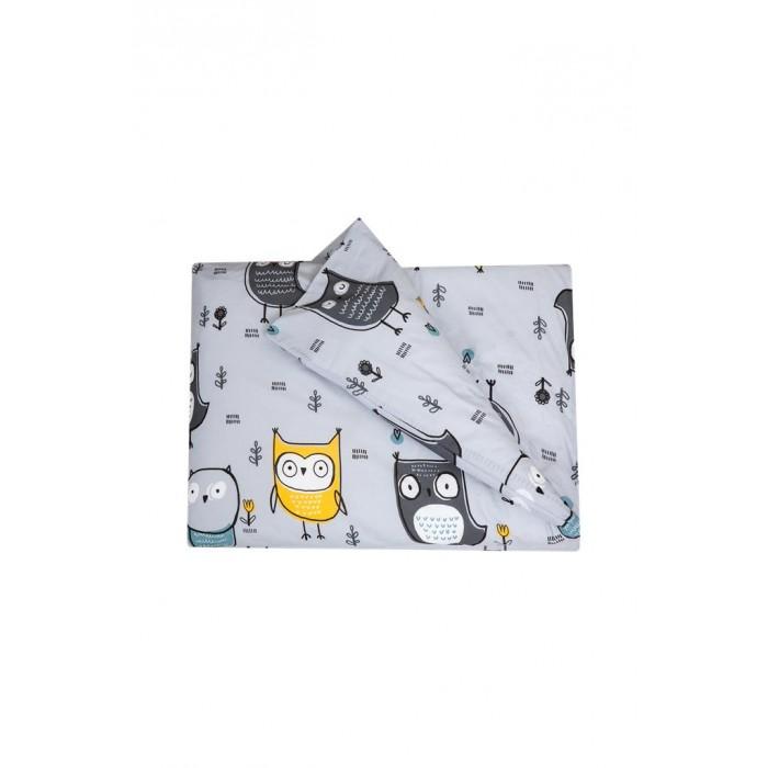 Картинка для Постельное белье Вомбатик Пододеяльник на молнии Совята 142х112 см