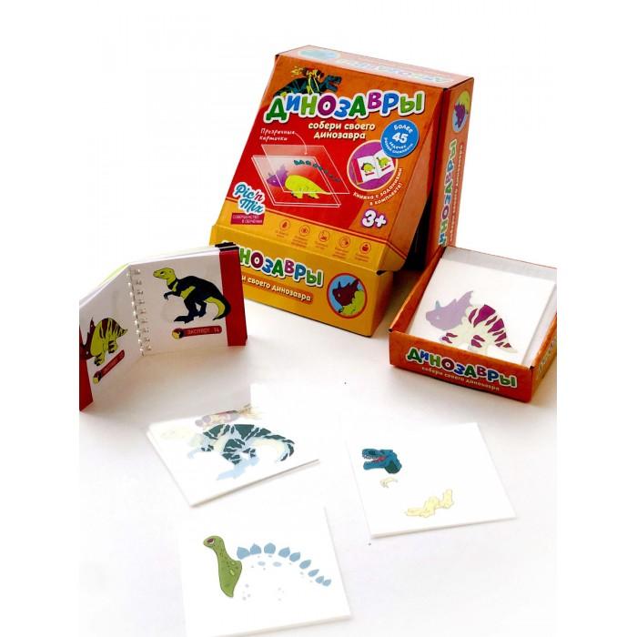 Картинка для Развивающие игрушки Pic`n Mix Пазл конструктор Микскод Динозавры