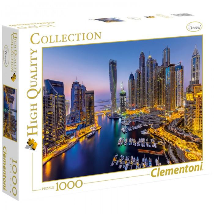 Пазлы Clementoni Пазл Классика Ночной Дубай (1000 элементов) пазл clementoni 1000 деталей наполи 2