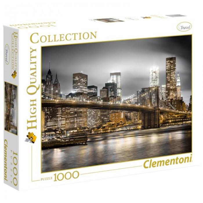 Clementoni Пазл Классика Нью-Йорк Огни большого города (1000 элементов)