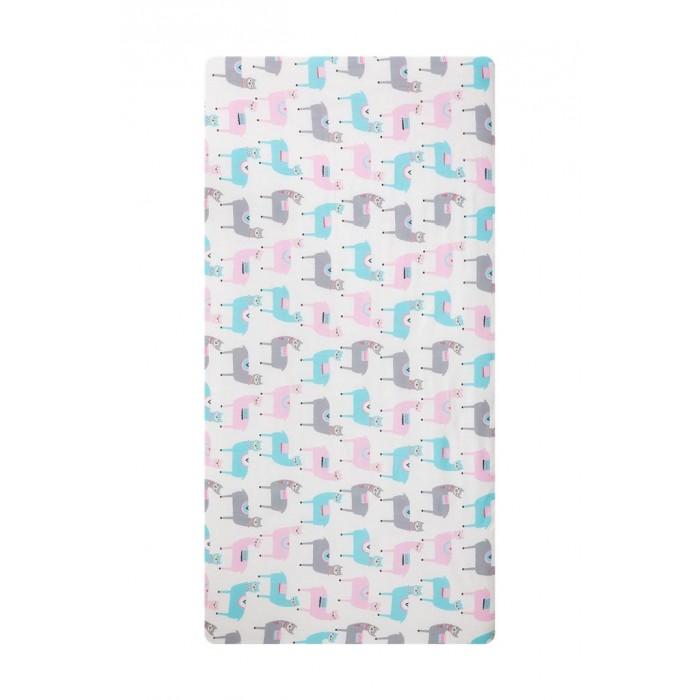 Картинка для Простыни Вомбатик Простынь на резинке универсальная Ламы 125х75х12 см