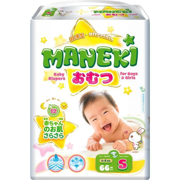Картинка для Подгузники Maneki Подгузники S (4-8 кг) 66 шт.
