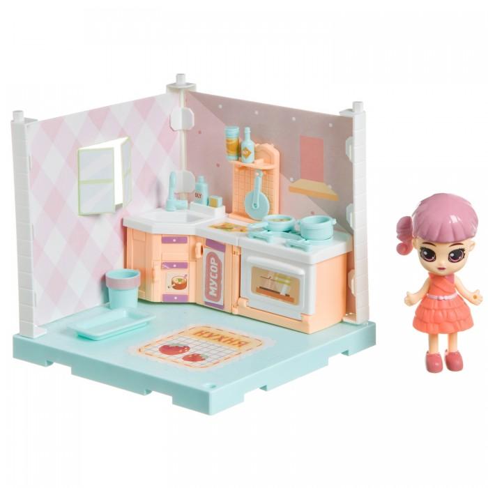 Кукольные домики и мебель Bondibon Игровой набор Мебель Кукольный уголок Кухня и куколка Oly