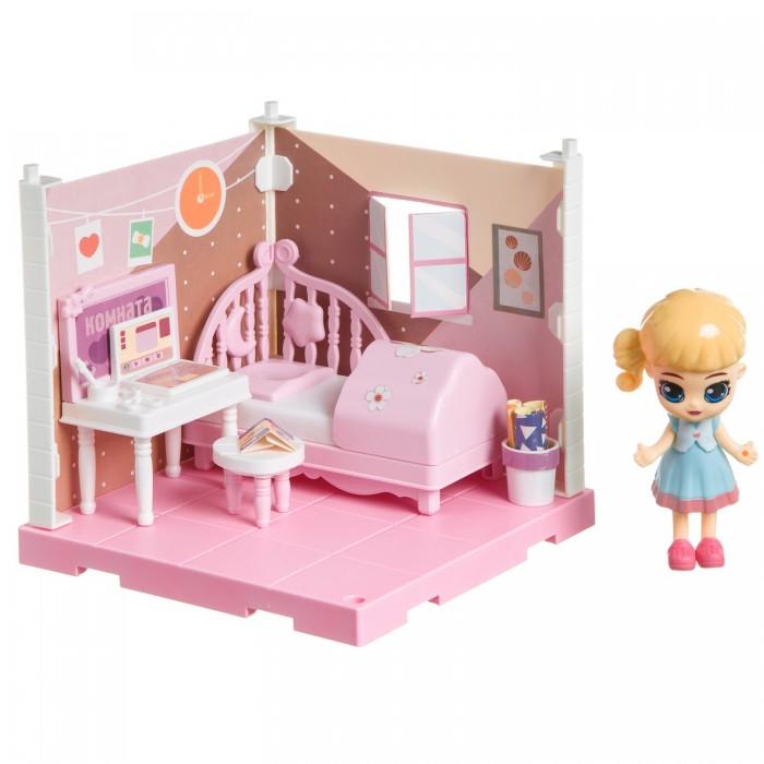 Фото - Кукольные домики и мебель Bondibon Игровой набор Мебель Кукольный уголок Спальня и куколка Oly кукольные домики и мебель наша игрушка игровой набор кукольный домик 12 предметов