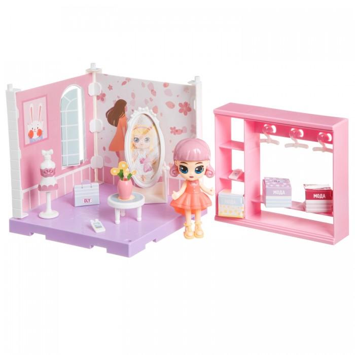 Фото - Кукольные домики и мебель Bondibon Игровой набор Мебель Кукольный уголок Гардеробная и куколка Oly кукольные домики и мебель наша игрушка игровой набор кукольный домик 12 предметов