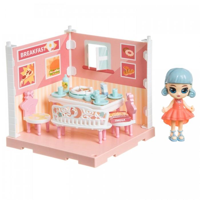 Фото - Кукольные домики и мебель Bondibon Игровой набор Мебель Кукольный уголок Столовая и куколка Oly кукольные домики и мебель наша игрушка игровой набор кукольный домик 12 предметов