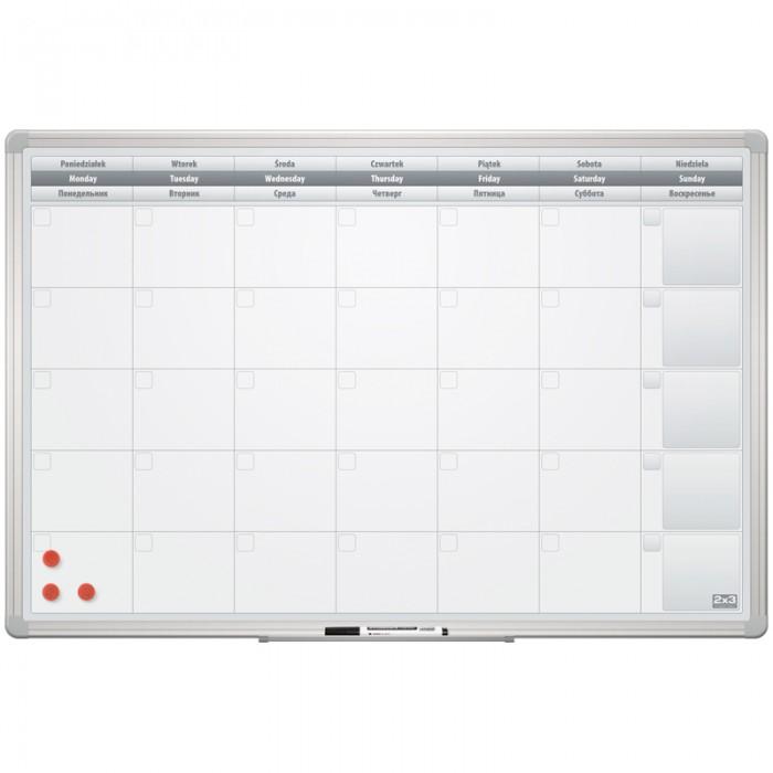 Доски и мольберты 2х3 Доска-планинг на месяц магнитно-маркерная Office 60х90 см