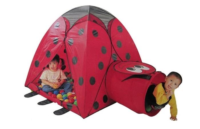 Calida Палатка-домик с туннелем + 100 шаров Божья коровка