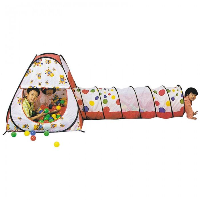 Фото - Палатки-домики Calida Палатка-домик с туннелем + 100 шаров Конус палатки домики calida дом палатка 100 шаров конус квадрат туннель