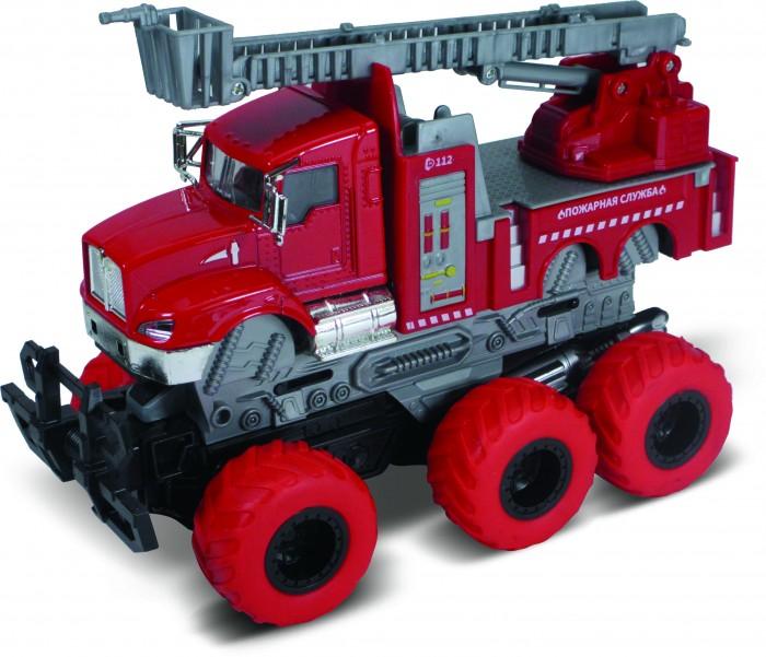 Картинка для Машины Funky Toys Пожарная машина с выдвижной лестницей с краш-эффектом
