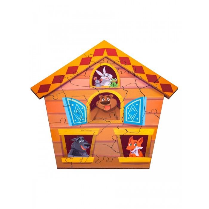 Деревянные игрушки Clever Energy Развивающий пазл Теремок