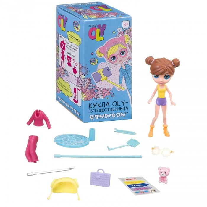 Куклы и одежда для кукол Bondibon Игровой набор Oly-Путешественница с куколкой и аксессуарами 11,5 см ВВ4312