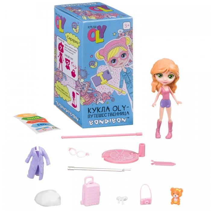 Куклы и одежда для кукол Bondibon Игровой набор Oly-Путешественница с куколкой и аксессуарами 11,5 см ВВ4314