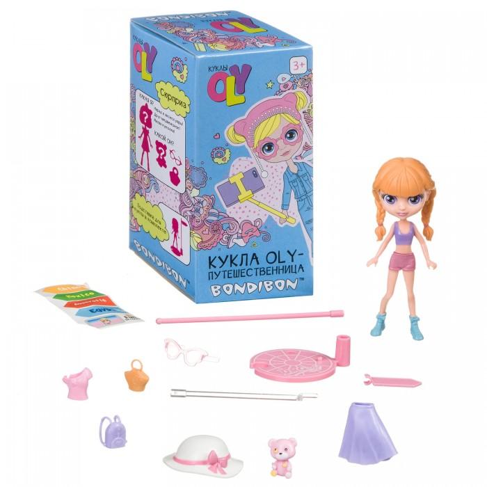 Куклы и одежда для кукол Bondibon Игровой набор Oly-Путешественница с куколкой и аксессуарами 11,5 см ВВ4317