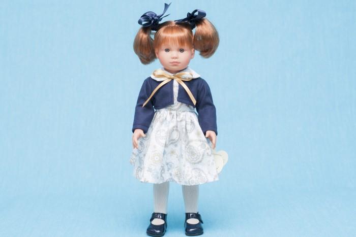 ASI Кукла Нелли 43 см 253010Кукла Нелли 43 см 253010Кукла, размер 43 см, выполнена из винила, рыжие волосы собраны в два хвостика, в синем комплекте, в красивой подарочной коробке.<br>