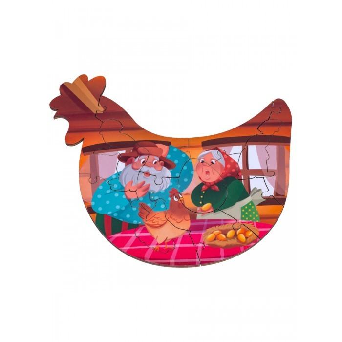 Деревянные игрушки Clever Energy Развивающий пазл Курочка ряба