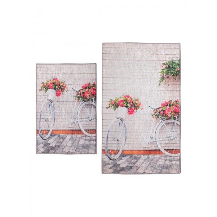 коврики для ванной и туалета tango коврик для ванной lola набор Аксессуары для ванн Decovilla Набор ковриков для ванной и туалета ТК-0015