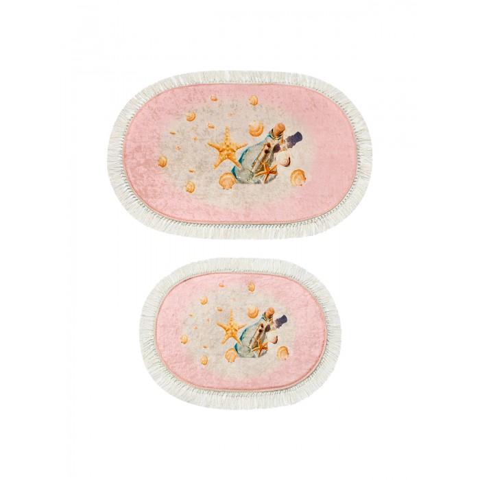 коврики для ванной и туалета tango коврик для ванной lola набор Аксессуары для ванн Decovilla Набор ковриков для ванной и туалета ТК-0026