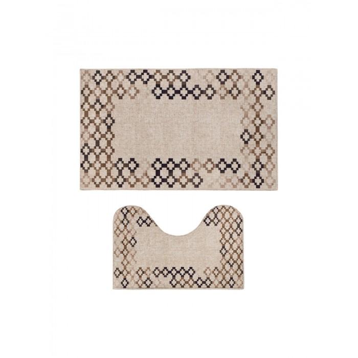 коврики для ванной и туалета tango коврик для ванной lola набор Аксессуары для ванн Decovilla Набор ковриков для ванной и туалета ТК-0028