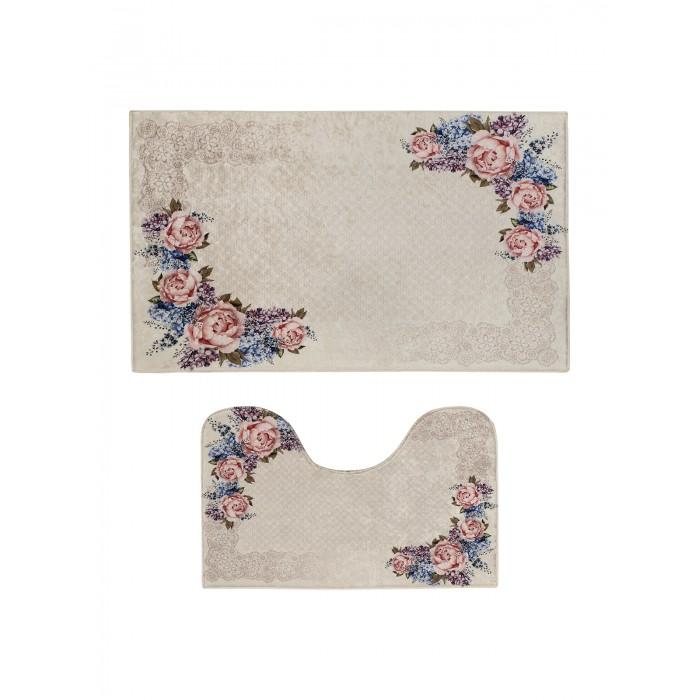 коврики для ванной и туалета tango коврик для ванной lola набор Аксессуары для ванн Decovilla Набор ковриков для ванной и туалета ТК-0037