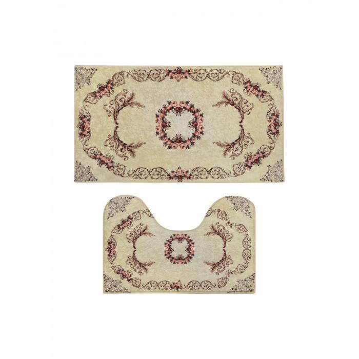 коврики для ванной и туалета tango коврик для ванной lola набор Аксессуары для ванн Decovilla Набор ковриков для ванной и туалета ТК-0038