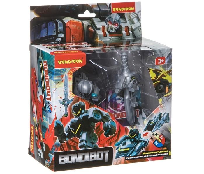 Роботы Bondibon Трансформер Bondibot магнитная трансформация пусковым мечом машинок в робота ВВ4612