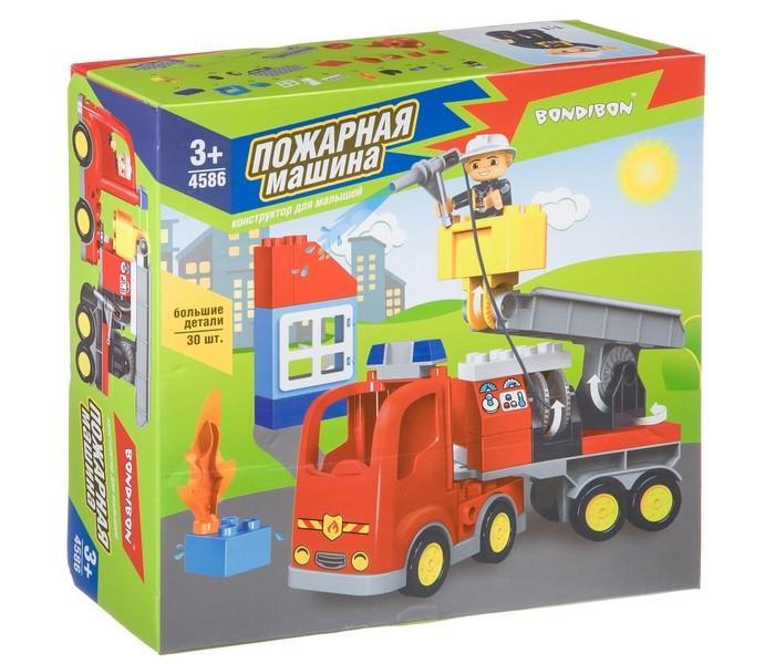 Конструкторы Bondibon для малышей Пожарная машина (30 деталей)