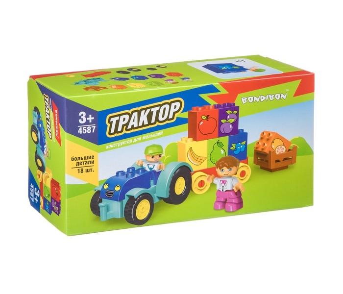 Конструкторы Bondibon для малышей Трактор (18 деталей)