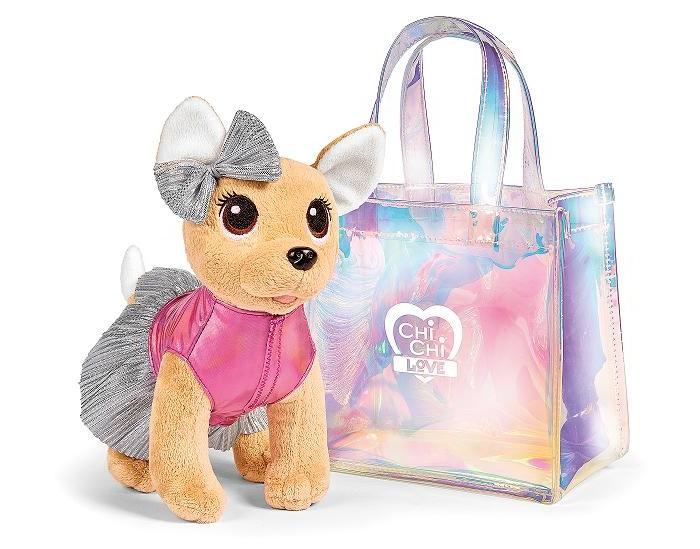 Мягкие игрушки Chi-Chi Love Плюшевая собачка в прозрачной сумочке 20 см