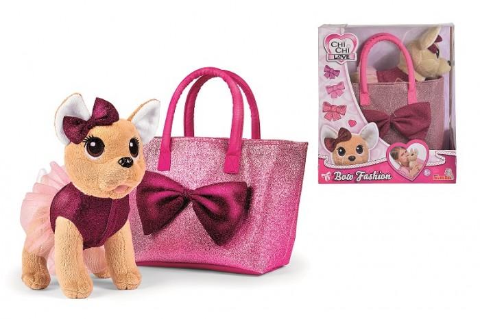 Мягкие игрушки Chi-Chi Love Плюшевая собачка с бантиком 20 см