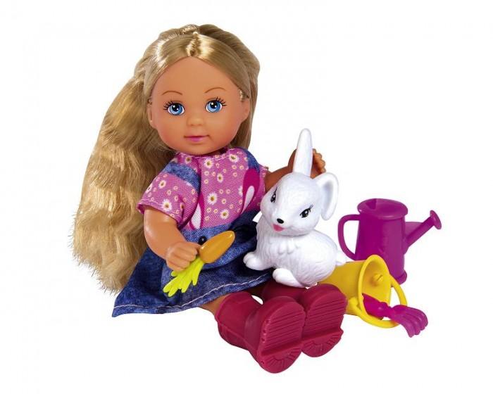 Куклы и одежда для кукол Simba Кукла Еви в саду с питомцем 12 см недорого