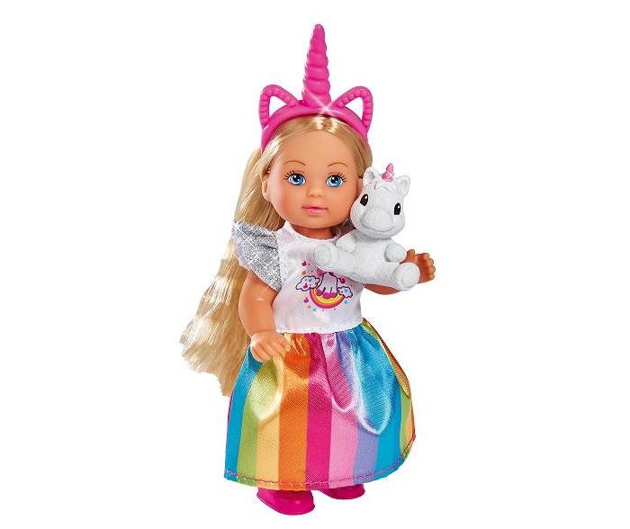 Картинка для Куклы и одежда для кукол Simba Кукла Еви в ярком платье с единорогом 12 см