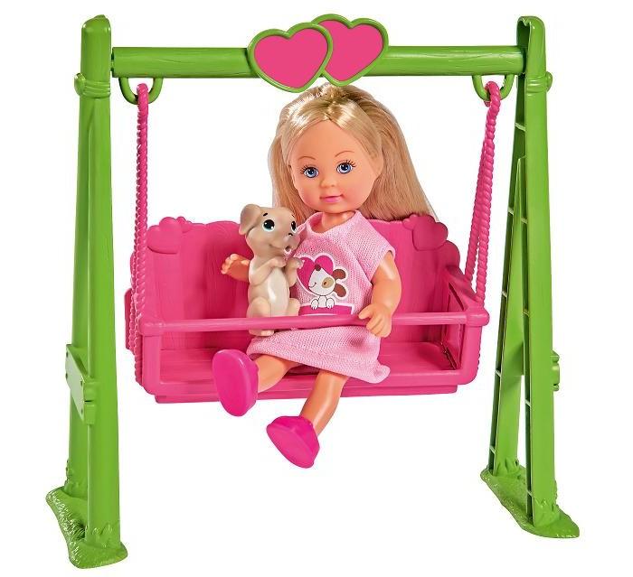 Куклы и одежда для кукол Simba Кукла Еви на качели с собачкой 12 см куклы и одежда для кукол simba кукла еви на велопрогулке с собачкой 12 см