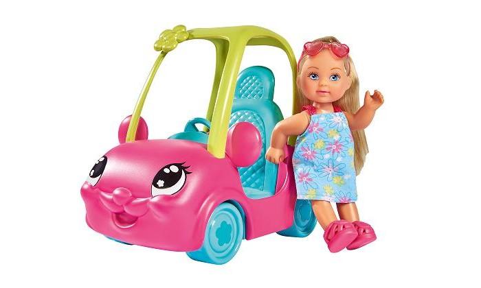 Куклы и одежда для кукол Simba Кукла Еви на машинке 12 см куклы и одежда для кукол simba кукла еви на велопрогулке с собачкой 12 см