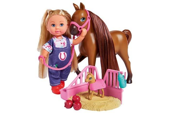 Картинка для Куклы и одежда для кукол Simba Кукла Еви с беременной лошадкой 12 см