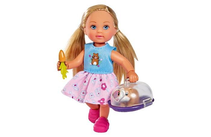 Куклы и одежда для кукол Simba Кукла Еви с морской свинкой в переноске 12 см