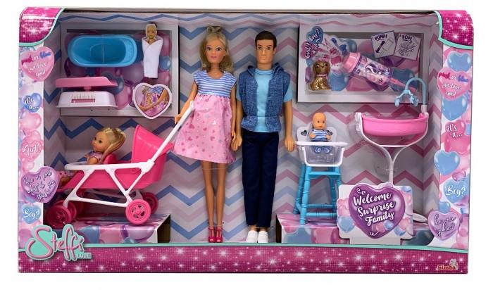 Картинка для Куклы и одежда для кукол Simba Кукла Штеффи с сюрпризом Большая семья