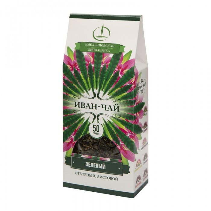 Чай Емельяновская Биофабрика Иван-чай Зелёный 50 г чай зелёный organic art kokeicha 50 г