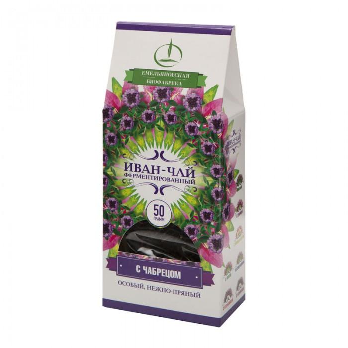 Чай Емельяновская Биофабрика Иван-чай ферментированный с чабрецом 50 г чай травяной вятский иван чай с чабрецом 100 г