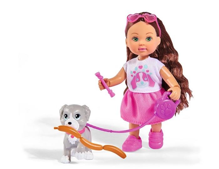 Картинка для Куклы и одежда для кукол Simba Кукла Еви с собачкой и аксессуарами Holiday 12 см