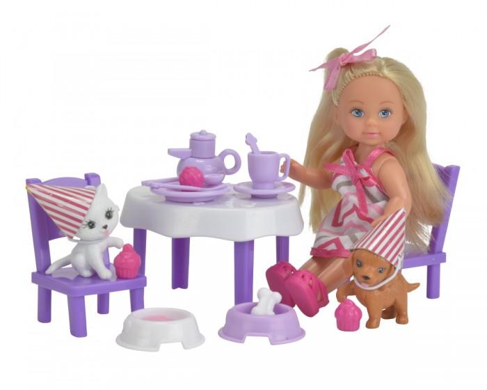 Картинка для Куклы и одежда для кукол Simba Кукла Еви с набором День рождения питомцев 12 см