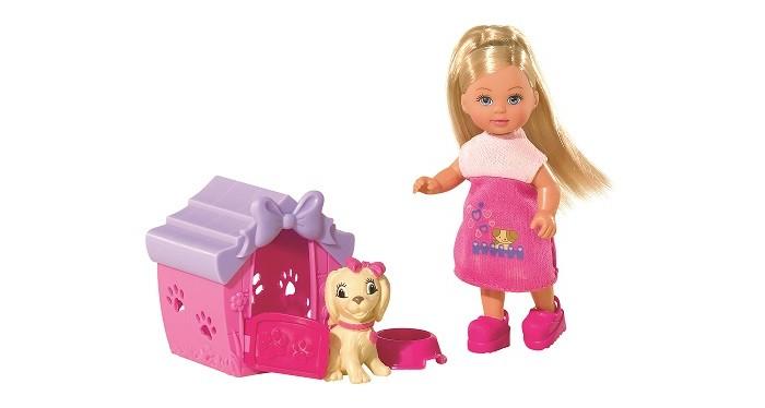 Куклы и одежда для кукол Simba Кукла Еви с собачкой в домике 12 см куклы и одежда для кукол simba кукла еви на велопрогулке с собачкой 12 см