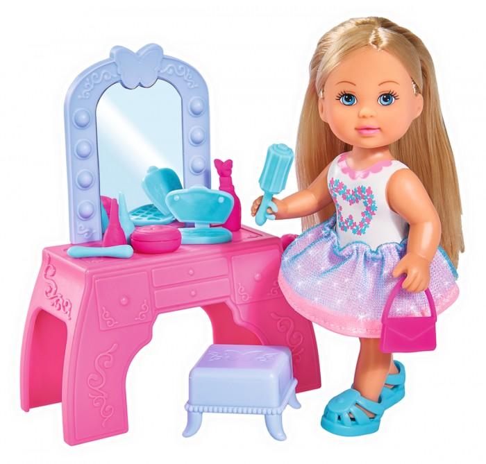 Купить Куклы и одежда для кукол, Simba Кукла Еви с туалетным столиком 12 см