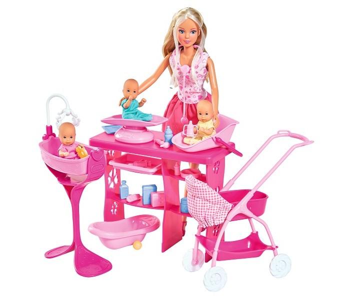 Купить Куклы и одежда для кукол, Simba Кукла Штеффи с малышами 29 см