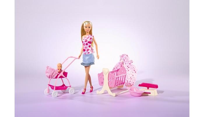 Купить Куклы и одежда для кукол, Simba Кукла Штеффи с новорожденным 29 см
