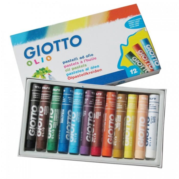 цены Карандаши, восковые мелки, пастель Giotto Olio Масляная пастель 12 цветов