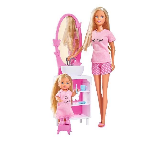 Картинка для Куклы и одежда для кукол Simba Куклы Штеффи и Еви Время умываться 29 см