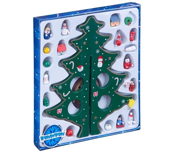 Купить Наборы для творчества, Bondibon Набор Деревянная ёлочка с 3D-игрушками 29 см
