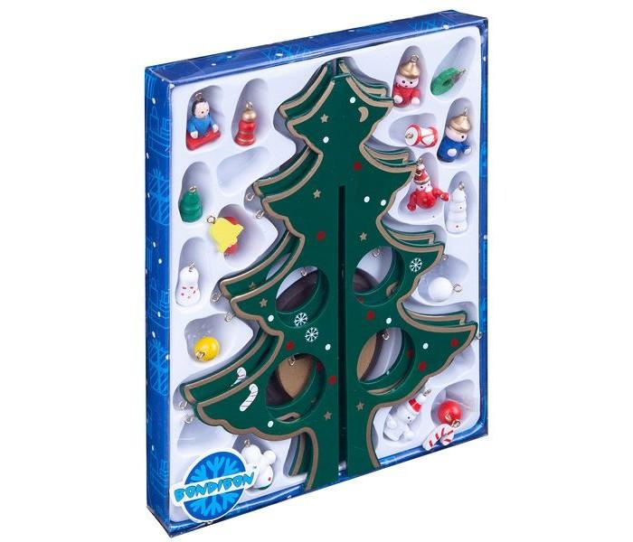 Купить Наборы для творчества, Bondibon Набор Деревянная ёлочка с 3D-игрушками 25 см